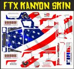 US American Stars & Stripes Flag themed vinyl SKIN Kit & Stickers To Fit R/C FTX Kanyon Rock Crawler